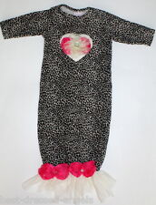 CachCach Girl 0 3 M Rosette Cheetah Gown Boutique Infant Sac Newborn Take Home