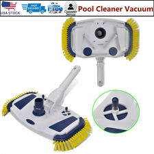 New listing Swimming Pool Vacuum Head Cleaner Brush Above Ground Sweeper Spa 2 Side Brushes
