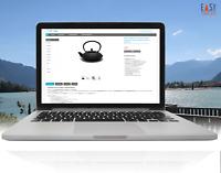 eBay Vorlage NEU Auktionsvorlage Responsive Easy-Template Design grey/blue