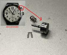 Chronograph Push Pusher Button Crown Fits Swatch Irony Chrono Watch Spare Parts