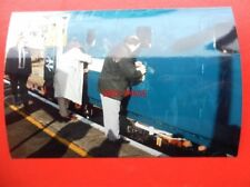 PHOTO  NAMEPLATE - UNVEILING OF HERTFORDSHIRE RAIL TOURS CLASS 33 LOCO NO 33116
