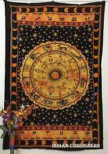Horoscope Sun-sign Rashi Tapestry Bedding Sun Sheet Wall Hanging Twin Bedspread