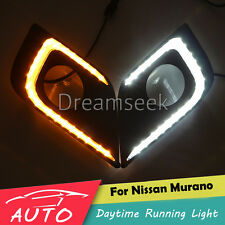 DRL FOR NISSAN MURANO 2015 2016 LED DAYTIME RUNNING LIGHT FOG LAMP W TURN SIGNAL