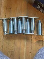 Heavy Duty Stainless Steel Adjustable Equipment Legs w/ Welded Mount Plate.