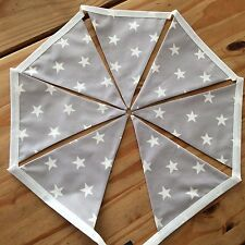 Pastel Grey Star Bunting 1m Bedroom/Playroom/Party Girls & Boys