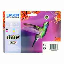 ORIGINALI EPSON T0807 BK C M Y PER Epson Stylus Photo P50 PX700W PX650 PX710W