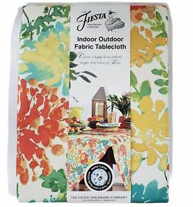 "Fiesta Indoor Outdoor Tablecloth Garden Floral Size 60x102"" Oblong New"