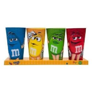 M&M's World Characters 24oz Cup Tumbler Set of 4 **BRAND NEW**