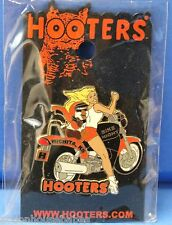 HOOTERS SEXY GIRL MOTORCYCLE RIDE BIKE NIGHT HOOTIE WICHITA KS KANAS LAPEL PIN
