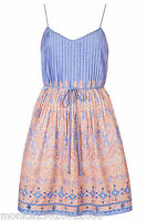 TOPSHOP BY KATE MOSS SUMMER PAISLEY PRINT SUN DRESS SIZE UK 10 12 14 RRP £65