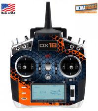 Orange Grey Honeycomb Spektrum DX18 Transmitter Skin Wrap Decal Radio