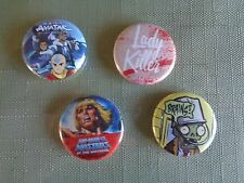 2016 SDCC Comic Con Buttons lot 4 Lady Killer MOTU Plants VS Zombies Avatar