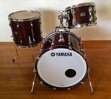 Yamaha Recording Custom 3 Piece Drum Set, Classic Walnut Finish- 22, 12, 16