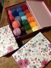 Maleta De Lana De Regalo De Navidad Paquete de hilo Stylecraft Tejido Crochet Trabajo Lote mixto