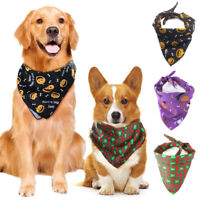 Dog Neckerchief Bandana Neck Scarf Collar Adjustable Puppy Pet Accessory Shawl A