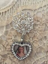 Wedding Bouquet Memorial Photo Brooch - New!