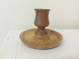 NICE ITEM..SIMPLE DESIGN...WOODEN.. CANDLE HOLDER....RUSTIC....DISPLAY..TAPER