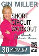 GIN MILLER SHORT CIRCUIT WORKOUT FOR QUICK CALORIE BURN DVD EXERCISE FITNESS NEW