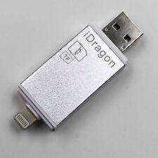 Todo en un adaptador USB Lector de Tarjeta de memoria MMC SD MicroSD SDHC TF M2 Para Iphone