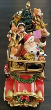Fitz And Floyd Santa Mobile Car With Toys Holiday Music Box Christmas Decor