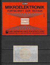 MATCHBOX LABELS-GERMANY. RFT MIkroelektronik, packet  size label, Riesa