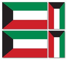 4 X STATE OF KUWAIT FLAGS VINYL CAR VAN IPAD LAPTOP STICKER