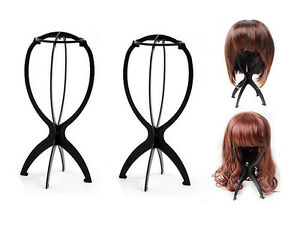 3 Pack - Wig Display Stand Mannequin Dummy Head Hat Cap Hair Holder Fordable