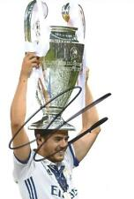 REAL MADRID: ALVARO MORATA SIGNED 6x4 CHAMPIONS LEAGUE TROPHY PHOTO+COA