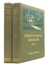 HOMES OF FAMOUS AMERICANS, Vols. I-II by Chesla C. Sherlock - Signed - 1926