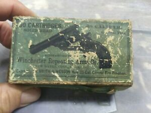 Antique Empty Cardboard Box Advertising Winchester .38 60 Cartridges Solid Head