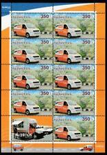 ARMENIA 2013 EUROPA CEPT POSTAL VEHICLES CARS Mi.834 MNH SHEET, CV 25 EURO