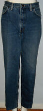 CALVIN KLEIN W32 x L28 Blue Straight Leg, Button Fly Jeans
