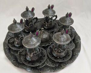 33 pcs Turkish Tea Glasses Cups set high quality  🇺🇸 seller