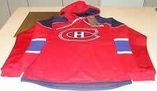 NHL Hockey Reebok Edge Team Jersey Hoodie Hoody Sweatshirt Montreal Canadiens XL