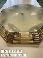 Sölken Lampe Deckenleuchte Kristall Nostalgie Gold Messing Plafoniere Glas