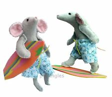 Felt mouse soft toy sewing kit by pcbangles.  Surfing mice pattern