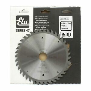 Elu E51443 Series 40 200mm x 30mm 40T TCT Circular Saw Blade for Wood/Laminates