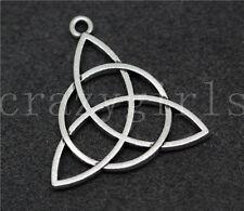 Lot 6/20/100pcs Tibetan Silver Celtic Knot Triquetra Charms Pendants DIY 29x28mm