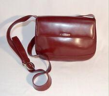 Oroton Leather CrossBody HandBag Color: Burgundy Wine