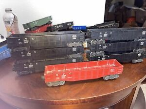 6 Black 1red Lionel New York Central #6462 Gondola postwar Excellent Shape