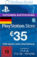 PSN Network 35 Euro Code €35 EUR PlayStation Store Guthaben PS3 PS4 PS Vita - DE