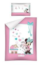NEW Minnie Mouse what a doll Baby Toddler Bedding Set 100% COTTON Cot Cotbed 15A
