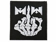 """MOTIONLESS IN WHITE Finger MIW Iron On Sew On Embroidered Band Patch 3"""""""