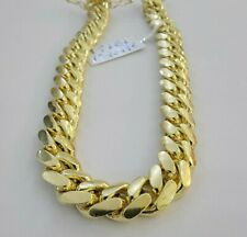 "SOLID 14k Gold Miami Cuban Bracelet 8.5"" 9mm 14kt Yellow Gold Authentic 14kt MEN"
