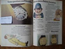 BULOVA ACCUTRON  MEGA SCARCE   VINTAGE MAGAZINE ADVERT  7  4   A  U