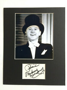 Mickey Rooney - Breakfast at Tiffany's - Original Hand Signed Mounted Autograph