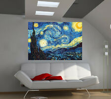 "Starry Night Vincent Van Gogh Giant Poster Wall Print 39""x57"" lx04"