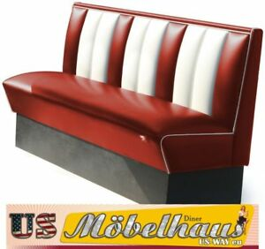 HW-150-Ruby American Diner Bench Diner Benches Furniture USA Style Catering