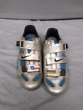 Nike Lance Armstrong Limited Edition Cycling Shoe Carbon Chrome/blue 41.5