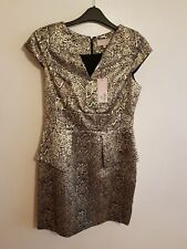 NEW RRP £50, PHILIP - Ladies Womens Stunning Gold Formal Party Dress Size 14